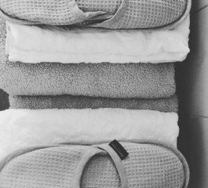 9. Handoeken en slippers
